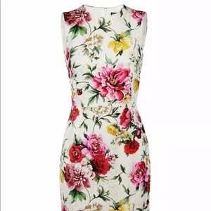 Dolce & Gabbana Floral Print Brocade Dress 40/4
